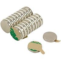 first4magnets f312na -20 12 mm diámetro x 2 mm de grosor autoadhesivo N42 imán de neodimio con 1,6 kg tirador (20 unidades)