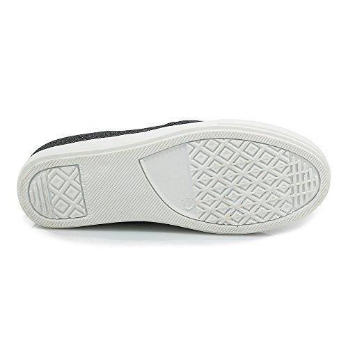 Bico Sapatos Pretos Mais Couro Redondo De Senhoras Pu Voguezone009 As Puro Baixas Vendas Bombas Puxar qvWRwC