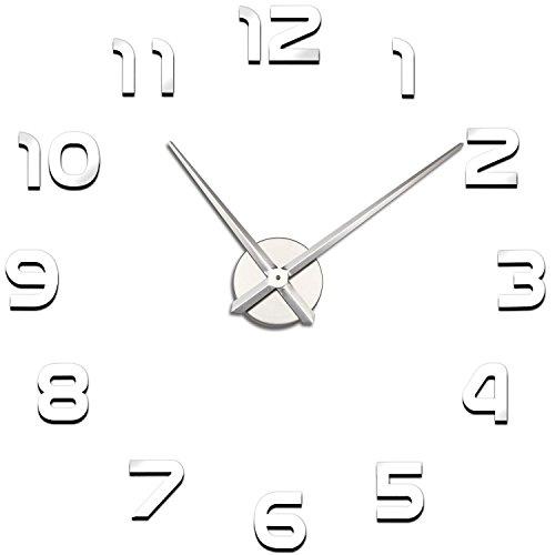 Espejo Reloj de Pared DIY Soledi sin Marco número Craft decoración para árbol de Navidad