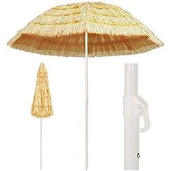 Galapara Parasol de Plage Hawaii | Parasol Jardin | Ø 240 cm | Parasol d'extérieur Parasol pour terrasse, Plage, Jardin, Balcon et Piscine