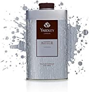 Yardley Arthur Perfumed Talcum Body Powder, masculine, all day fragrance - 150 gm