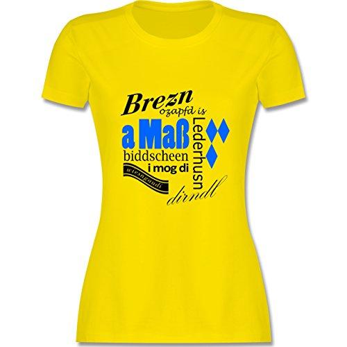 Oktoberfest Damen - Oktoberfest Lettering Scribble - tailliertes Premium  T-Shirt mit Rundhalsausschnitt für Damen