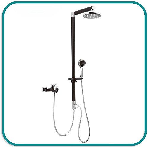 WEITING 5-Funktions-neue Art und Weise Badezimmerschwarzes Niederschlag-Dusche-Verkleidungs-Duschschirm, Wandmontierte Duschpanel-Duschsäule (1200x397x190mm)