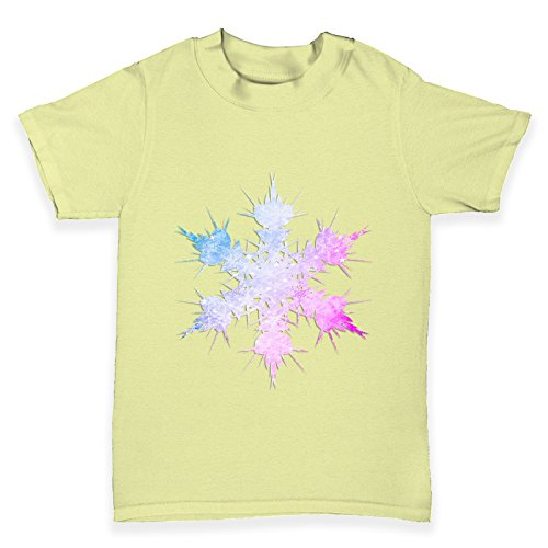 TWISTED ENVY Baby T-Shirt Multi-coloured Snowflake Print 6 - 12 Months Zitronengelb (Multi Tee Print)