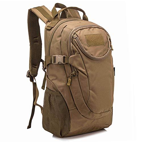 Selighting Taktischer Rucksack 25L Wasserdicht Trekkingrucksack Milit?rischer Molle Rucksack f¨¹r Camping Trekking Reisen (Braun)