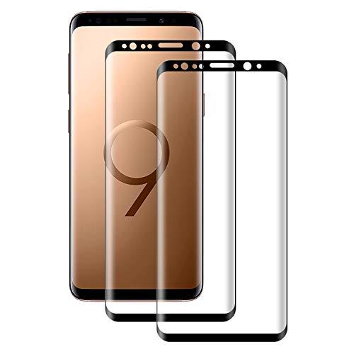 POOPHUNS Panzerglas Schutzfolie kompatibel mit Samsung Galaxy S9, Gehärtetes Glas Bildschirmschutzfolie mit 9H Härte, HD Ultra Klar, Anti-Kratzen, Anti-Öl, Bildschirmschutz Folie für S9(2 Stück)