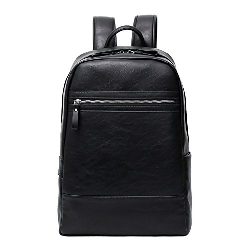 Peggie House,Rucksäcke, Damen Herren PU-Leder Rucksack Schultasche Unisex PU School Bag Daypacks Student Rucksack Geeignet (Leder-schultaschen)