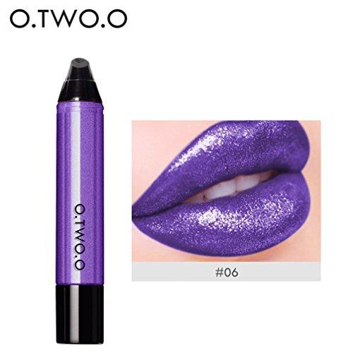 Rouge à Lèvres, Tefamore 12 Couleurs Imperméable Longue Durée Liquide Velours Mat Rouge à Lèvres Maquillage à Lèvres Brillant (6#)