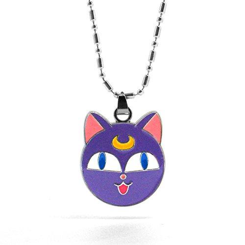 Papapanda Halskette für Sailor Moon Kette mit Luna Katze Soldier Anime Cosplay (Cosplay Luna)