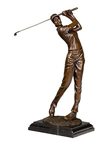 Toperkin Statue Extra Large Female Golfer Golf Sport Trophy Award Bronze Sculpture Statue Figure (Golfer Bronze Garten-statue)