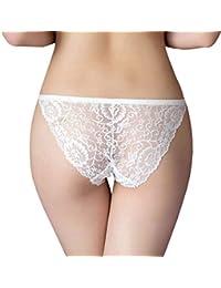 68887246f463 RUNSONE Women's Sexy Lace Thong Low Rise G-String Comfortable Underwear  Briefs