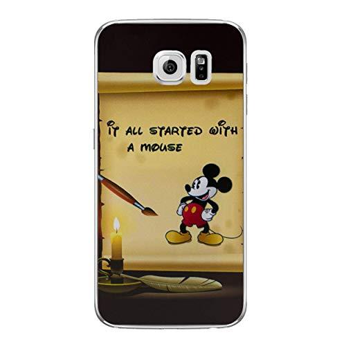 Disney Zitat Telefon Hülle/Case für Samsung Galaxy S6 (G920) mit Displayschutzfolie/Silikon Weiches Gel/TPU / iCHOOSE/Hat Angefangen
