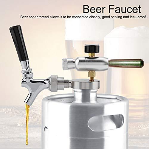 41U8yjbvmfL. SS500  - TOPINCN Beer Spear Faucet Tap Homebrew Mini Beer Barrel Wine Dispenser Kit Stainless Steel for 2L 3.6L 4L Mini Keg Beer…
