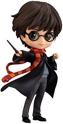 Qposket - Banpresto Figura de Colección de Harry Potter Chaqueta Negra Versión A 14cm Hogwarts Magia Varita Mágica… 1