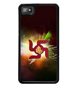printtech Lord God Ganesha Swastik Back Case Cover for BlackBerry Z10