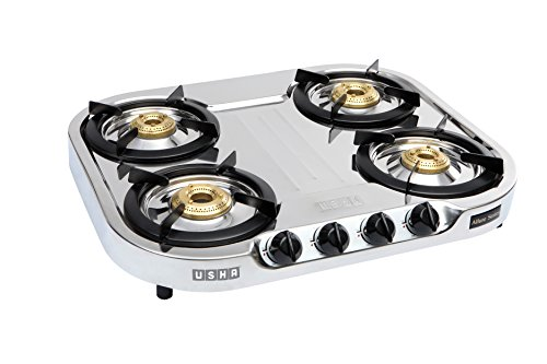 Usha Allure Gs4 001 Cooktop (stainless Steel And Black)