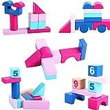 Yanxia Bloques de construcción de Juguetes para niños de 3 a 6 años Los niños y Las niñas Pueden morder la Madera de Poder Intelectual ensamblada con Bloques