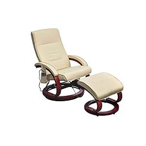 vidaXL Massagesessel Fernsehsessel mit Hocker Relaxsessel TV Sessel mit Heizung