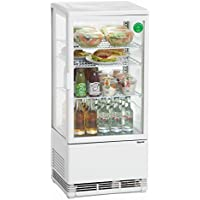 Bartscher Mini nevera para vitrina 78L, color blanco