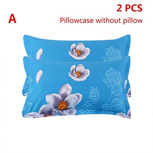 Blaue Blumen-bett-ensemble (Yestter Bedsure Baumwolle Bettwäsche 1.52m Rot, Lila, Blau Bettbezüge Mit 3-Teilig Super Weiche Atmungsaktive Baumwollbettwäsche Blumen-SerieBettbezug)