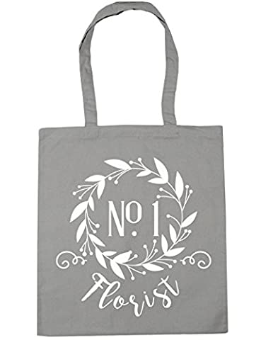 HippoWarehouse Number One Florist Floral Reef Tote Shopping Gym Beach Bag 42cm x38cm, 10 litres