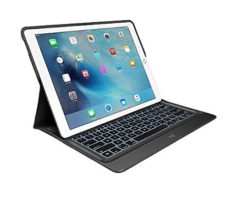 Logitech CREATE Tastatur-Case (mit Hintergrundbeleuchtung für 12.9 Zoll iPad Pro (1st generation), mit automatischem Ein-/Ausschalten und Smart Connector (QWERTZ, deutsches Tastaturlayout)) schwarz