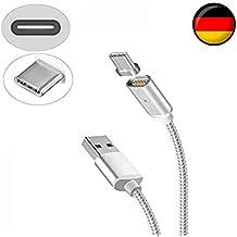 Tech Montagne magnétique USB Câble de chargement 1m–Original Apple MFI certifié–Lightning câble de données pour iPhone 66S 6Plus se 55S 5C et iPad mini 4Air 2iPod–QUALITÉ SUPÉRIEURE avec LED Indicateur d'État similaire MagSafe