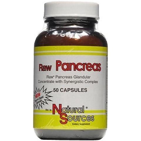 Natural Sources Raw Pancreas, 50 Tabs by Natural