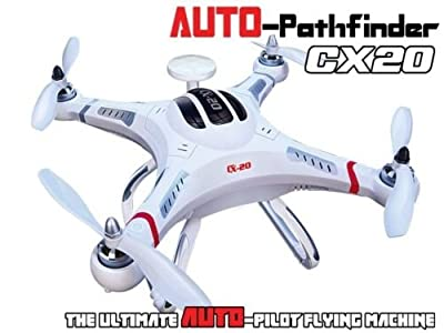 Lightinthebox®Auto Pathfinder 4CH LED Cheerson CX-20 CX20 6 Axis Drone GPS Autopilot System Drone Copter 2.4G RC Quadcopter, Radio Control Airplane, White