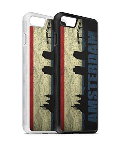iPhone Holland Amsterdam SILIKON Flipcase Tasche Hülle Case Cover Schutz Handy iPhone SE Schwarz