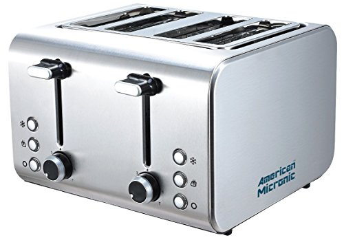 American Micronic- 4 Slice Imported Full Stainless Steel Pop-up Toaster- Ami-tss2-150dx