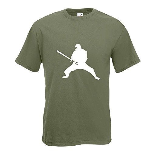 KIWISTAR - Ninja T-Shirt in 15 verschiedenen Farben - Herren Funshirt bedruckt Design Sprüche Spruch Motive Oberteil Baumwolle Print Größe S M L XL XXL Olive