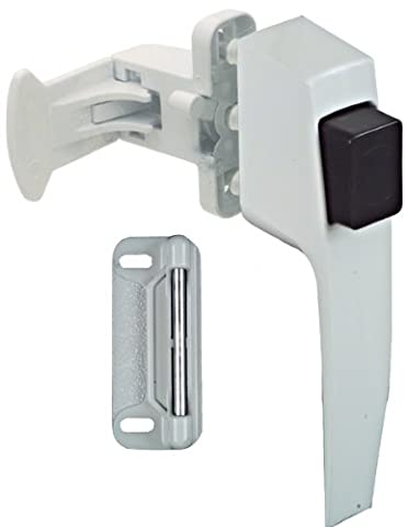 NATIONAL MFG/SPECTRUM BRANDS HHI - Screen & Storm Door Latch, Push-Button, White