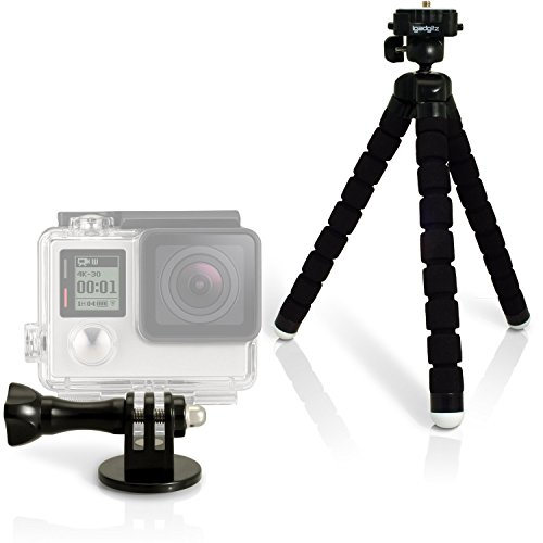 igadgitz-lightweight-large-flexible-foam-mini-tripod-with-quick-release-plate-and-adaptor-mount-thum