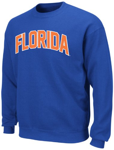 Majestic NCAA Florida Gators Gameday Battle Shock Fleece, langärmlig, Rundhalsausschnitt, Blau, Herren, Shock Blue, X-Large -