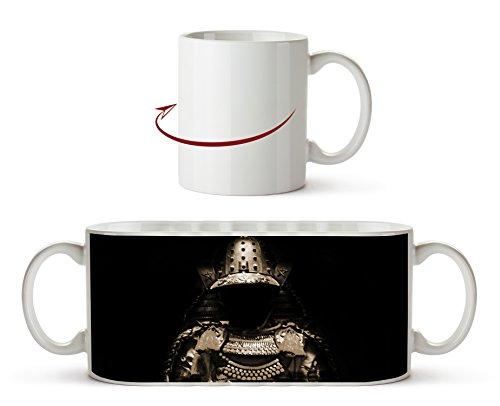 Dark goldene Samurai Rüstung Effekt: Sepia als Motivetasse 300ml, aus Keramik weiß, wunderbar als...