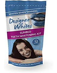 DESIGNER WHITES TEETH WHITENING KIT - UPTO 12 APPLICATIONS - FOR USE WITH OR WITHOUT A SUNBED