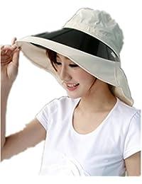 SMO Chapeau pliable de femme contre rayons ultra-violets avec 4 couleurs (beige)