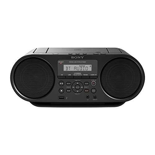 Sony ZS-RS60BT CD und USB Bluetooth Boombox/Radiorekorder (NFC, Mega Bass, UKW Radio) schwarz (Radio Mp3 Player Sony)