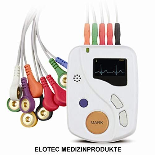 24 Stunden Langzeit EKG Gerät 12 Kanal Holter Event Recorder Rekorder Bis 48 Stunden inklusive PC Auswertungssoftware