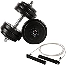 Fitness – Juego para todo el cuerpo – 30 kg mancuernas ...