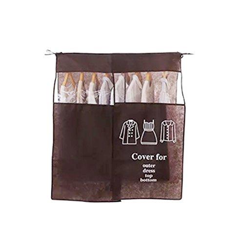 Kaffee Kleidungsstück (WINOMO Kleidersack Abdeckung Vliesstoff Staubdicht Tuch Tasche Anzug Reisetasche Portable Kleidungsstück Aufbewahrungstasche (Kaffee))