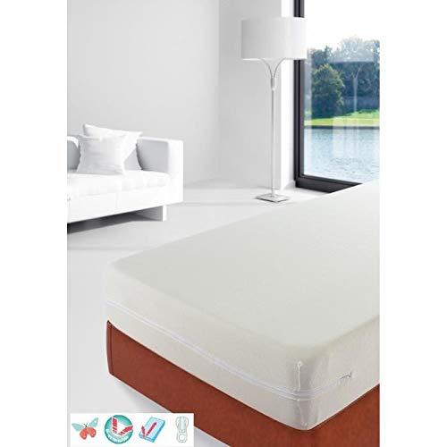 STIPI Rénove-matelas Bouclette en Microfibre bi-extensible 160x200 cm blanc