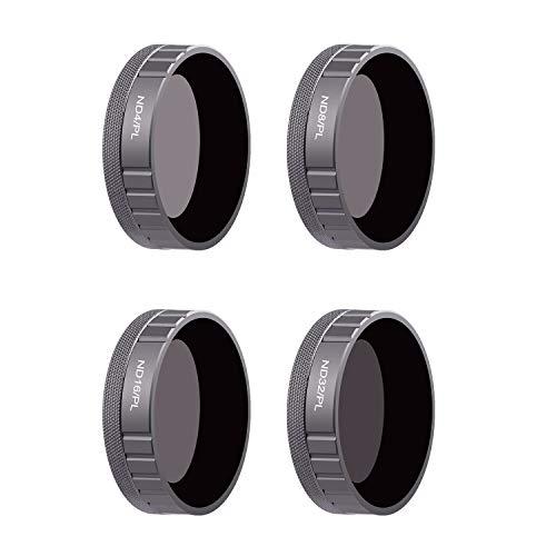 KUUQA 4 pcs Objektivfilter ND4 / PL, ND8 / PL, ND16 / PL, ND32 / PL Kamerafilter Kompatibel mit OSMO Action Camera, mehrfachvergütete Kameraobjektivfilter
