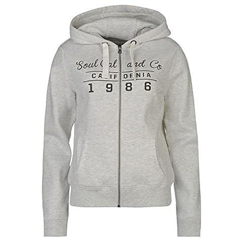 SoulCal Womens Hoody Full Zip Hoodie Long Sleeve Hooded Casual Top Ice Marl (M) 12