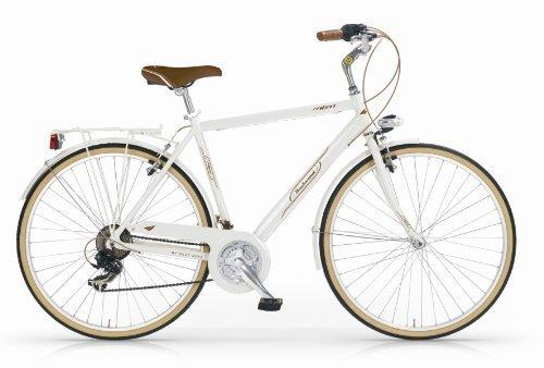 Mbm - Boulevard Man Bicyclette Vélo Homme 28'' H54 18S Trekking City Bike Blanc