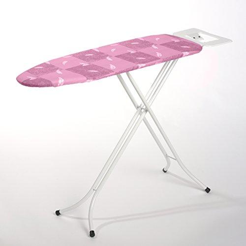 Bügeltisch, höhenverstellbares Bügelbrett, Bügelfläche von ca. 110 x 34 cm - Dampf-Bügelstation zum Bügeln mit Seiten-Tisch/Bügelablage - GS geprüft