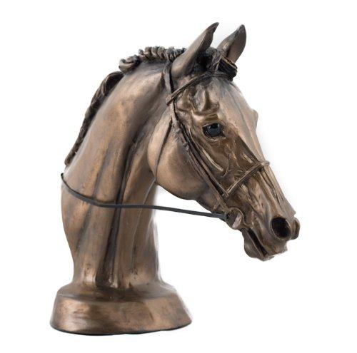 Harriet Glen, kalt gegossen, Bronze/Kunstharz, Pferd 'EVENTERS HEAD'Skulptur/Statue/Ornament. schönes Geschenk