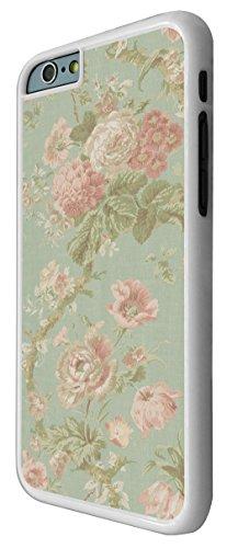 564-Cute Vintage Shabby Chic Floral Roses Rose Coque iPhone 66S 4.7Design Fashion Trend Case Back Cover Métal et Plastique-Blanc