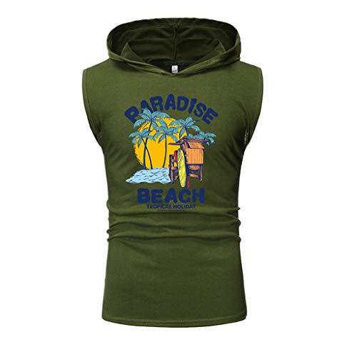 KUKICAT Débardeur Homme 108% Coton T-Shirt sans Manches à Capuche Fitness Chemise en Lin Slim Fit Débardeur Homme Dim Sexy Tank Top Haut Été Musclé Casual Débardeur de Sport Gym Entraînement
